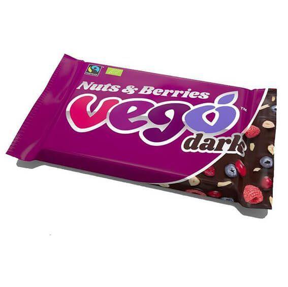 Chocolatina chocolate negro vegano.