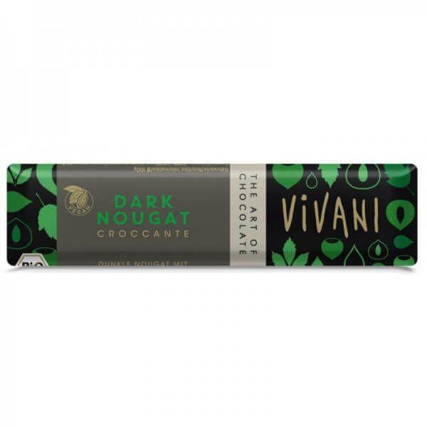 Chocolatina vegana choco negro con nuez Vivani