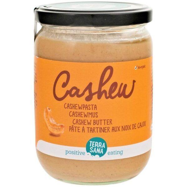 Crema de anacardos de agricultura ecológica. Sin gluten ni lactosa. 100% vegetal. 250 gramos.De Terrasana.