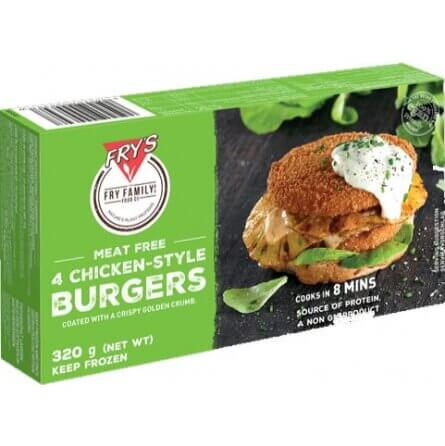 Hamburguesas Fry´s sabor pollo 4 unidades. Chicken style