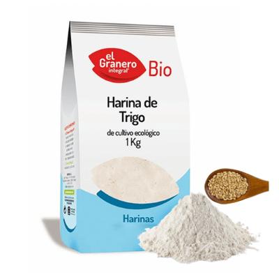 Harina blanca ecológica de trigo El Granero 1 kg