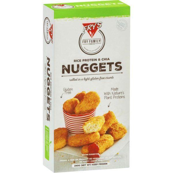 Nuggets veganos sin gluten, con proteína de arroz y chía. De Fry´s