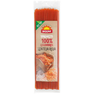 espagueti lenteja roja veganos