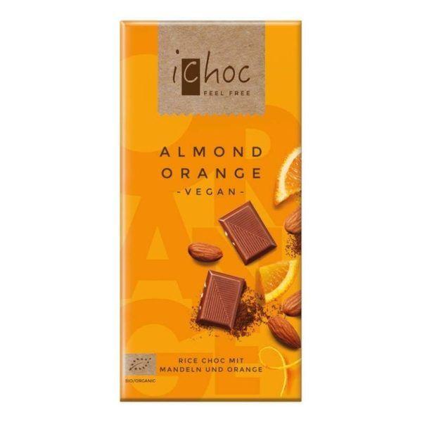 ichoc chocolate vegano de naranja