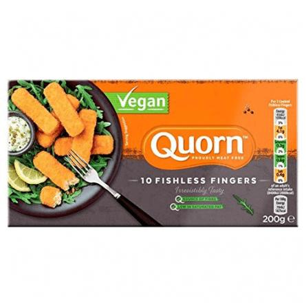 Palitos de pescado vegano Quorn 200 gramos. 10 uds
