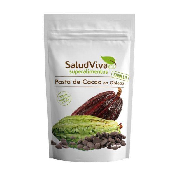 Pasta de cacao bio Salud Viva 250 gramos