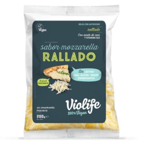violife mozzarella rallada 200 gramos