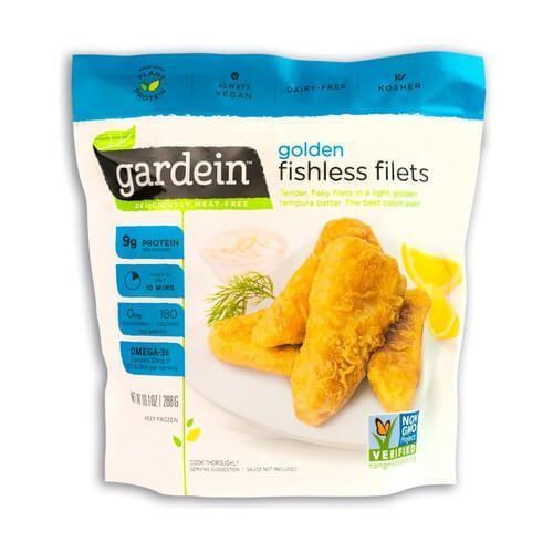 Filetes de pescado vegano Gardein