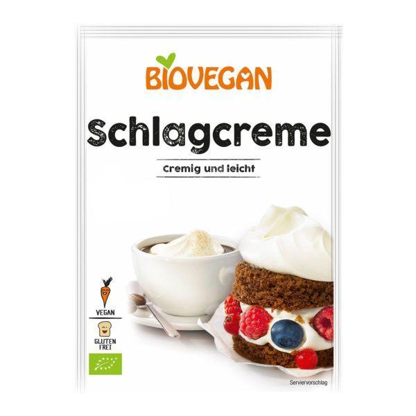 Nata montada vegana Biovegan. De agricultura orgánica. Muy baja en grasas. Alternativa vegetal a la nata de toda la vida. 54 gramos