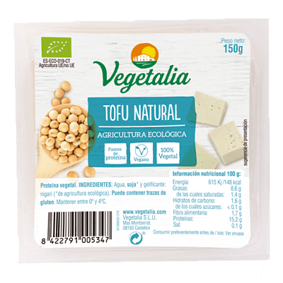 Tofu natural vegetalia 250 gramos