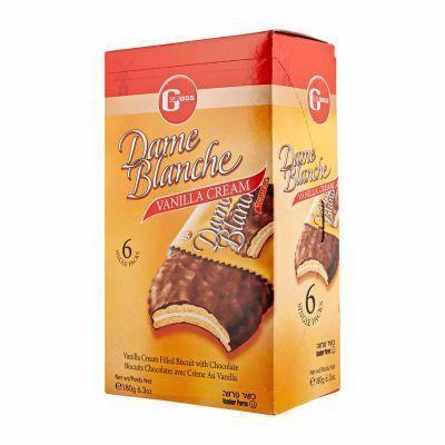Galletas veganas chocolate y crema Dame Blanche. Galleta en forma de sandwich con relleno de vainilla y cubiertas de chocolate. ¿Cómo te quedas? 180 gramos.