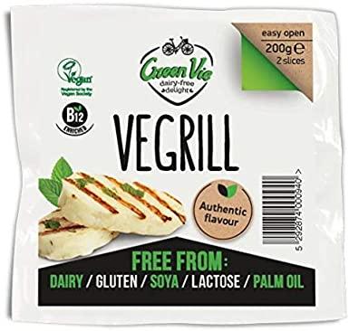 Queso vegano vegrill en bloque Green Vie. 200 gramos. Toque a hierbas y una textura muy suave, inspirado en los quesos mediterráneos. Para ensaladas o wraps