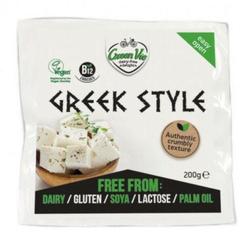 Queso vegano griego en bloque Green Vie. 200 gramos. Elaborado a base de aceite de coco.