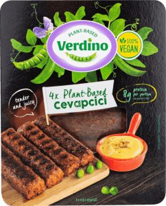 Salchicha vegana cevapcici picante Verdino 200 gramos