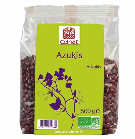 Azukis Celnat bio 500 gramos. El azuki es una legumbre roja de procedencia oriental. Presenta interesantes beneficios nutricionales y se puede utilizar en platos en los que utilizarías garbanzos o lentejas: guisos, ensaladas, etc.