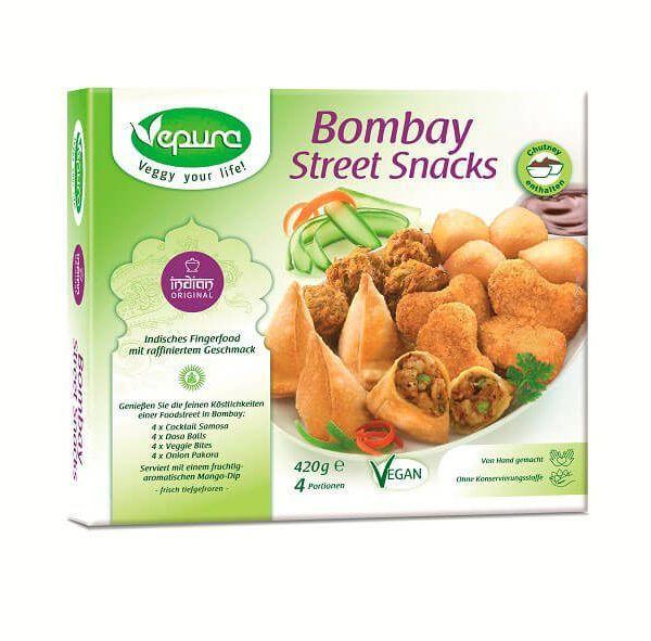 Bombay street snacks veganos de Vepura 420 g