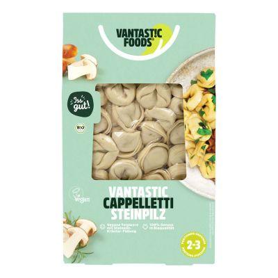 Cappelletti porcini vegano. Pasta orgánica rellena de hongos porcini y hierbas. Increíblemente buenos y super fáciles de preparar