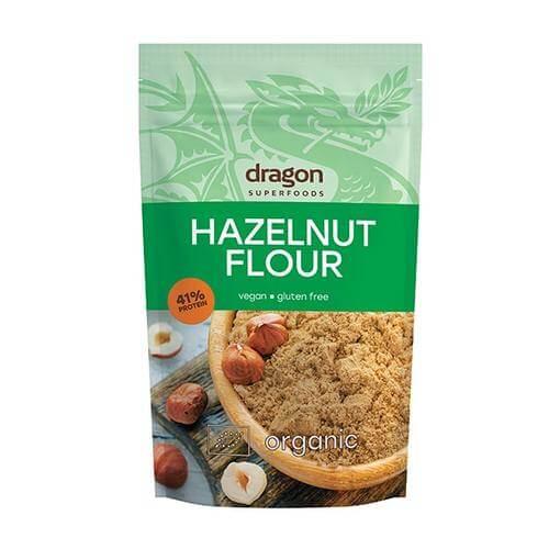 Harina de avellanas ecológica Dragon Superfoods. Una alternativa saludable y deliciosa a otras harinas procedentes de cereales. No contiene gluten.
