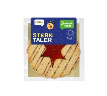 Pasta vegana con centro de rosella negra.