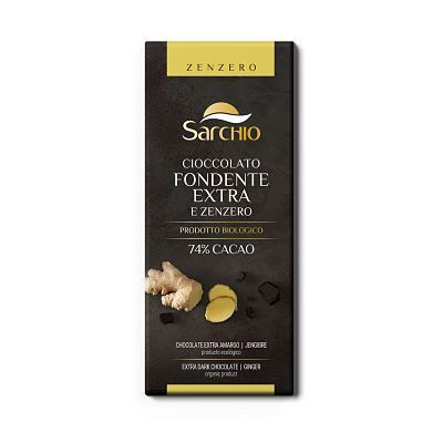 Chocolate amargo con jengibre Sarchio