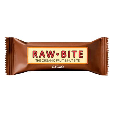 barrita energética vegana de cacao rawbite