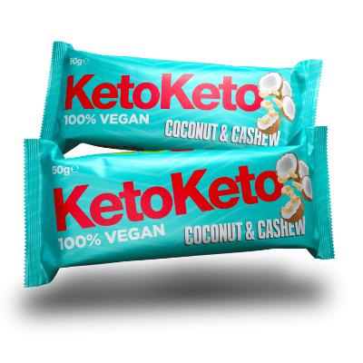 barrita vegana de coco y anacardos para dieta keto