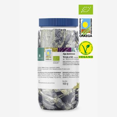 alga wakame deshidratado de cultivo bio