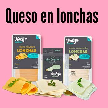 queso en lonchas vegano en tienda vegana o