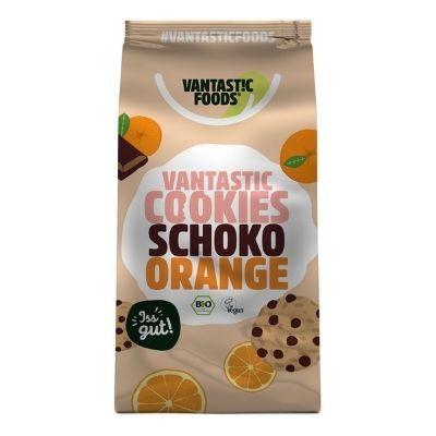 Galletas veganas orgánicas chocolate y naranja Vantastic Foods