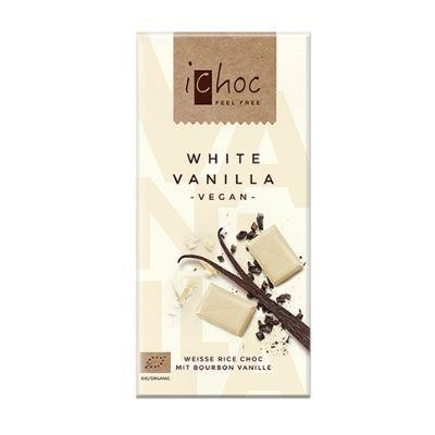 chocolate blanco vegano con vainilla ichoc