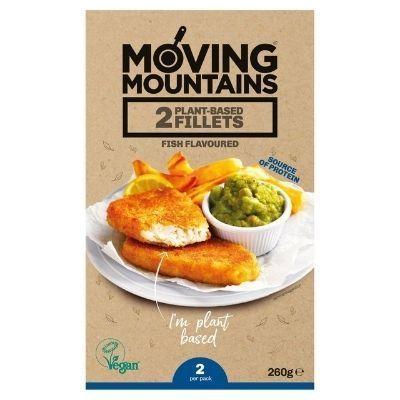 filete de pescado rebozado vegano Moving Mountains