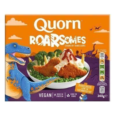 nuggets veganos quorn con forma de dinosaurios