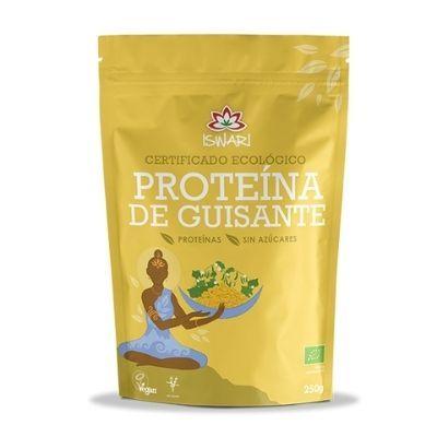proteína vegana de guisantes amarillos Iswari 250 gramos