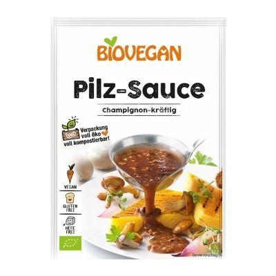 salsa de champiñones vegana en sobre Biovegan